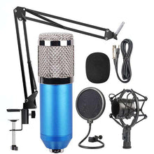 Load image into Gallery viewer, Mic Kit Condenser Microphone with Adjustable Mic Suspension Scissor Arm, Shock Mount and Double-layer Pop Filter, For Studio Recording, Live Broadcast, Live Show, KTV, etc.