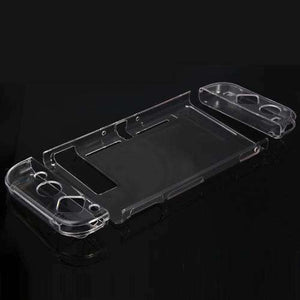 AMZER 4 in 1 Crystal Hard Shell Case for Nintendo Switch Body and Gamepad TNS-1710 - Transparent - fommystore