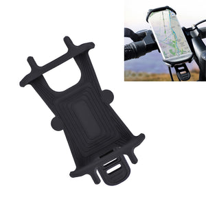 Universal Silicone Shockproof Bicycle Phone Holder for 4.5-6.0 inch Mobile Phone