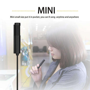 Mini Professional 3.5mm Jack Studio Stereo Condenser Recording Microphone, Cable Length: 1.5m, Compatible with PC and Mac for Live Broadcast Show, KTV, etc.(Black) - fommystore