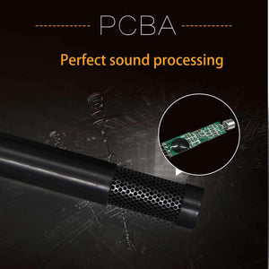 Mini Professional USB 2.0 Studio Stereo Condenser Recording Microphone, Cable Length: 1.5m, Compatible with PC and Mac for Live Broadcast Show, KTV, etc.(Black) - fommystore