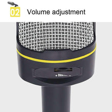 Load image into Gallery viewer, Professional Condenser Sound Recording Microphone with Tripod Holder, Cable Length: 2.0m, Compatible with PC and Mac for Live Broadcast Show, KTV, etc.(Black) - fommystore