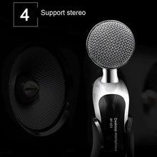 Load image into Gallery viewer, Professional Condenser Sound Recording Microphone with Tripod Holder, Cable Length: 2.0m, Compatible with PC and Mac for  Live Broadcast Show, KTV, etc. - fommystore