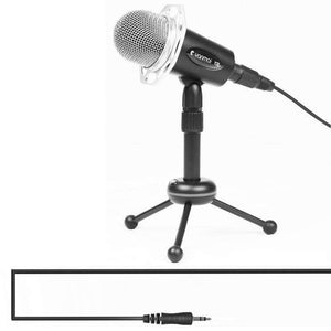 Professional Game Condenser Microphone  with Tripod Holder, Cable Length: 1.8m, Compatible with PC and Mac for  Live Broadcast Show, KTV, etc.(Black) - fommystore