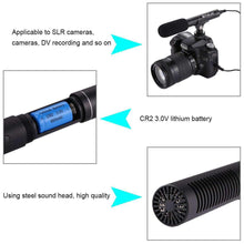 Load image into Gallery viewer, Professional Interview Condenser Video Shotgun Microphone with 3.5mm Audio Cable for DSLR & DV Camcorder - fommystore