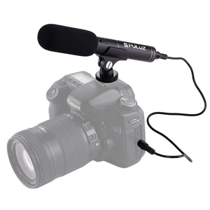 Professional Interview Condenser Video Shotgun Microphone with 3.5mm Audio Cable for DSLR & DV Camcorder