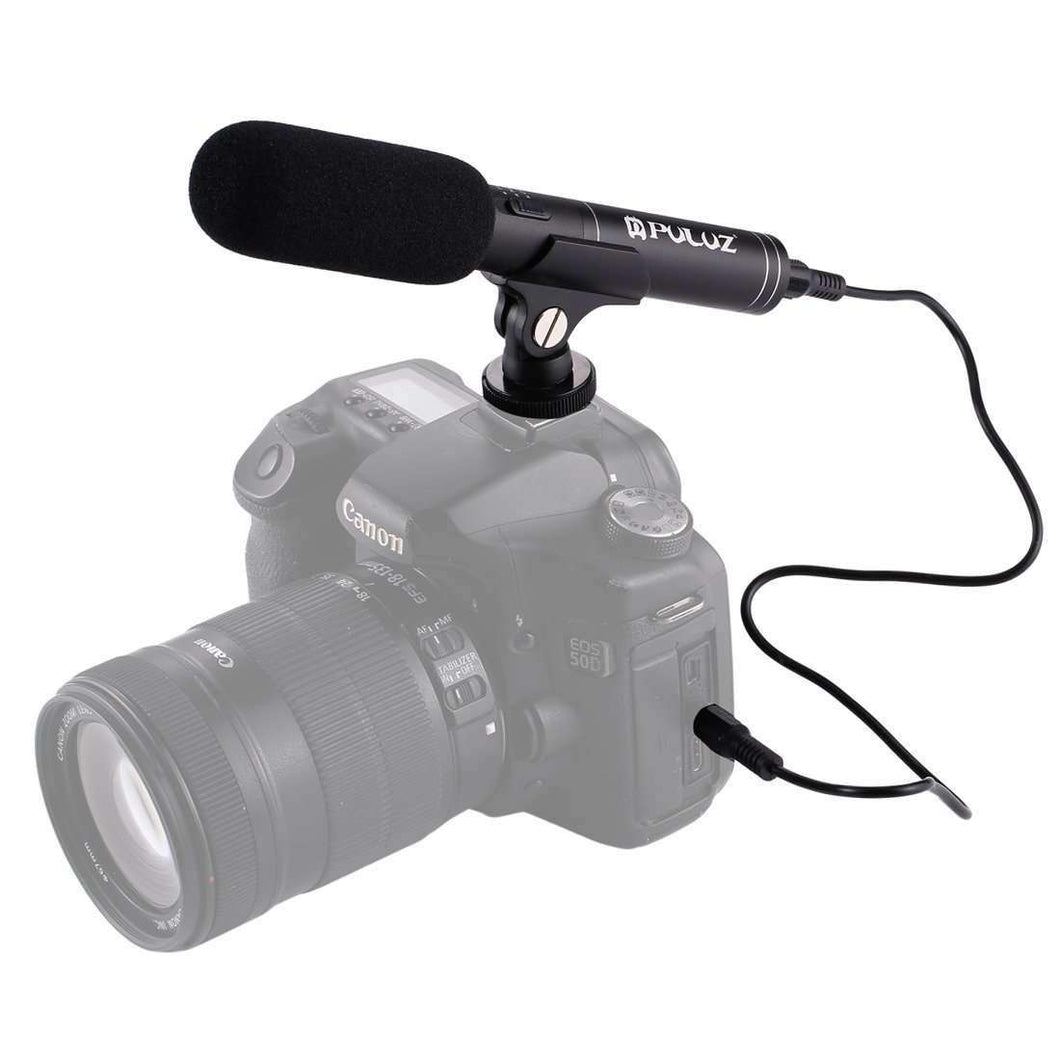 Professional Interview Condenser Video Shotgun Microphone with 3.5mm Audio Cable for DSLR & DV Camcorder - fommystore