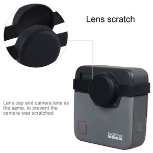 AMZER Dual Lens Silicone Protective Case for GoPro Fusion - Black - fommystore