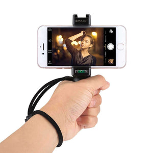 Live Broadcast Handheld Grip Selfie Rig Stabilizer ABS Tripod Adapter Mount with Cold Shoe Base & Wrist Strap, For iPhone, Galaxy, Huawei, Xiaomi, Sony, HTC, Google and other Smartphones
