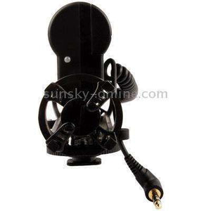 Condenser Recording Microphones Professional Photography Interview Dedicated Microphones for DSLR & DV Camcorder(Black) - fommystore