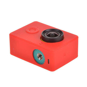 AMZER Silicone Gel Protective Case for Xiaomi Yi Sport Camera - Red - fommystore
