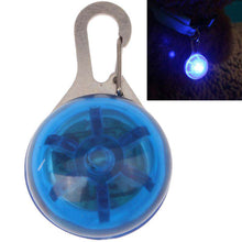 Load image into Gallery viewer, Round Shape Pet Safety Flash Pendant with Blue Color Light - Blue - fommystore
