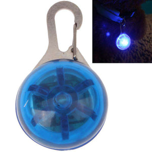 Round Shape Pet Safety Flash Pendant with Blue Color Light - Blue - fommystore