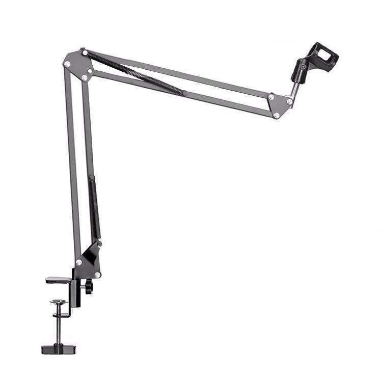 Adjustable Table Mount Recording Microphone Suspension Arm Stand Clip Holder, For Studio Recording, Live Broadcast, Live Show, KTV, etc.(Black) - fommystore