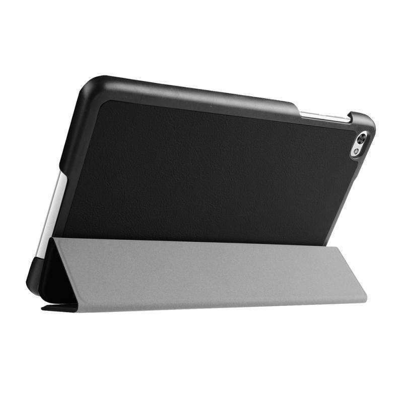 AMZER Flip Leather Case With 3-folding Holder For Huawei MediaPad M2 8.0 - Black - fommystore