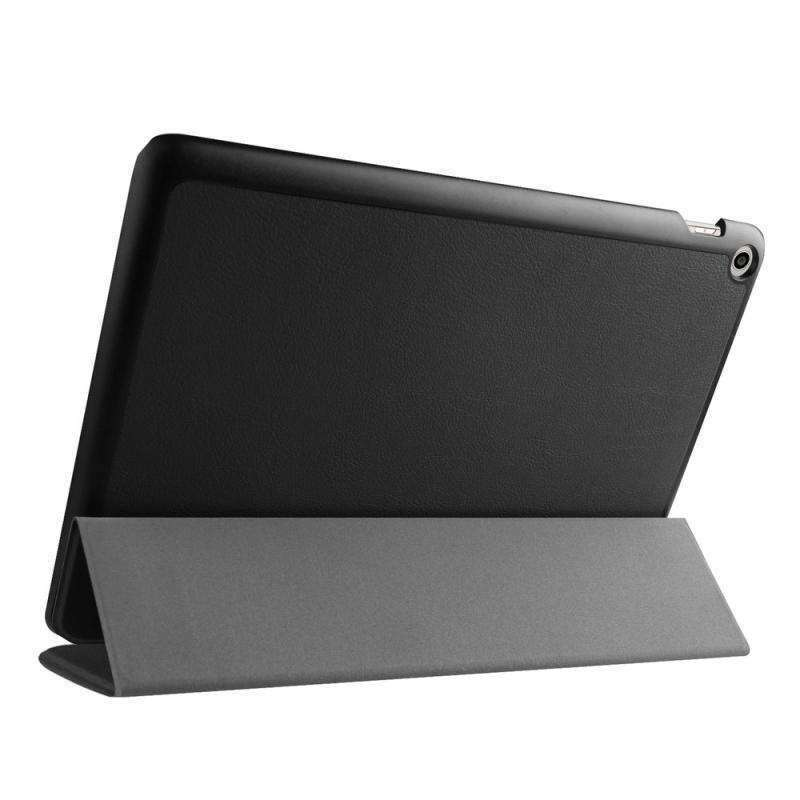 AMZER Flip Leather Case With 3-fold Holder For ASUS ZenPad 10 (Z300C) - Black - fommystore
