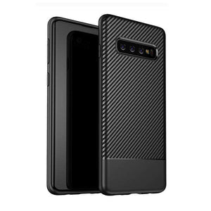 AMZER Carbon Fiber Texture TPU Case for Samsung Galaxy S10 - Black