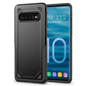 AMZER Hybrid Armor Case with Anti Slip Grip Drop Protection for Samsung Galaxy S10