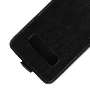 AMZER Vertical Flip Leather Wallet Case for Samsung Galaxy S10 - Black - fommystore
