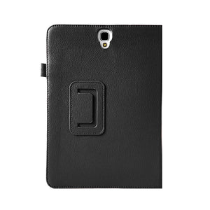 AMZER Shell Portfolio Case Leather Texture for Samsung GALAXY Tab S3 - Black - fommystore