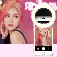 Load image into Gallery viewer, Anchor Beauty Artifact 3 Levels of Brightness Selfie Flash Light with 33 LED Lights, For iPhone, Galaxy, Huawei, Xiaomi, LG, HTC and Other Smart Phones(Black) - fommystore