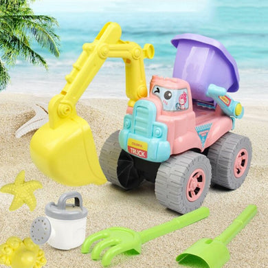 Simulation Engineering Car Children Beach Play Sand Toy Set - 6 Pcs