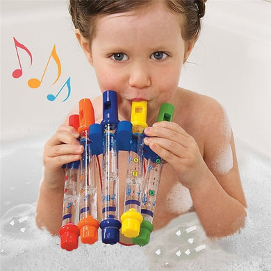 Children Colorful Bath Tub Music Water Flutes Baby Bath Shower Toy - 5 Pcs