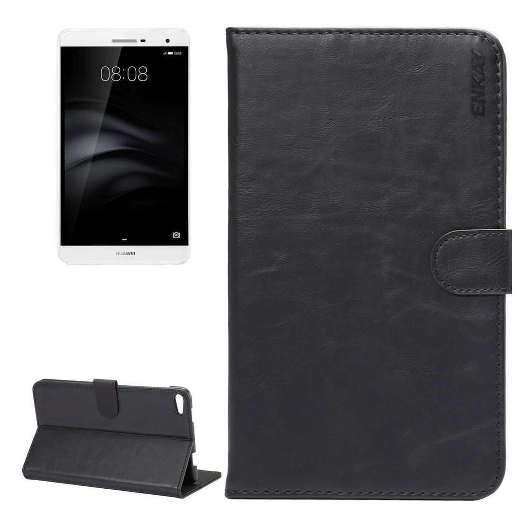 AMZER Flip Leather Case Holder & Card Slots For Huawei MediaPad M2 7.0 - Black - fommystore