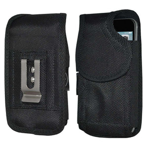 Heavy Duty Vertical Nylon Case with Belt Clip - Black