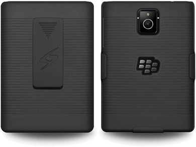 AMZER Shellster Hard Case with Belt Clip Holster for BlackBerry Passport - Black - fommystore