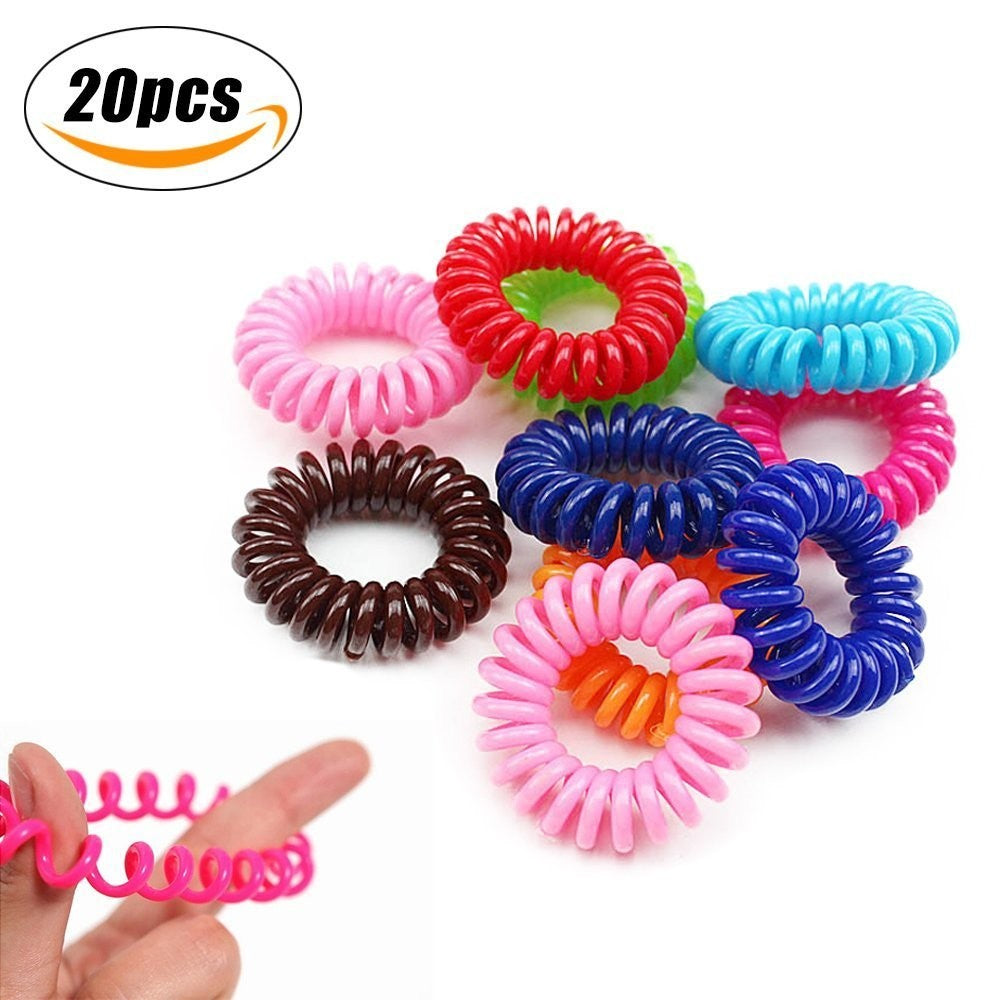Plastic Coil Hair Ties Black Elastic Spiral Traceless Hair Ties ... 1e0308e158c