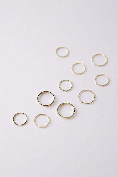 Simple Vintage Gold Silver Color Joint Rings