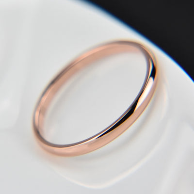 Simple Smooth Stainless Steel Silver Ring