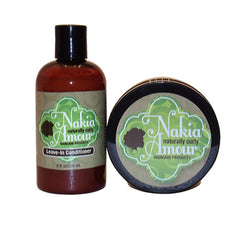 Nakia Amour Leave-In Conditioner & Moisturizing Hair Butter Duo