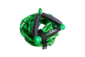 ONEWAKE SURF 9″ FLOATING ROPE & HANDLE - GREEN