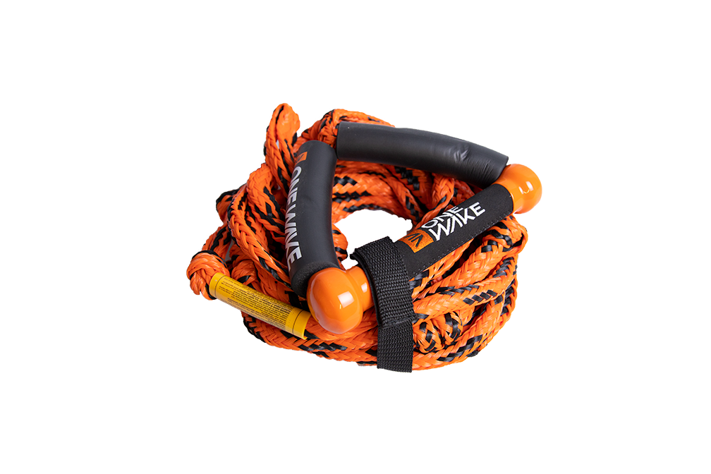 ONEWAKE SURF 9″ FLOATING ROPE & HANDLE - ORANGE
