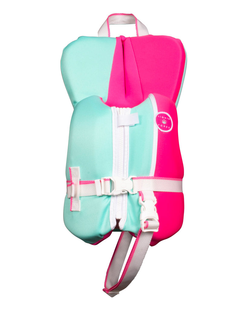 2021 LIQUID FORCE DREAM INFANT CGA PINK/MINT - 0-30LBS