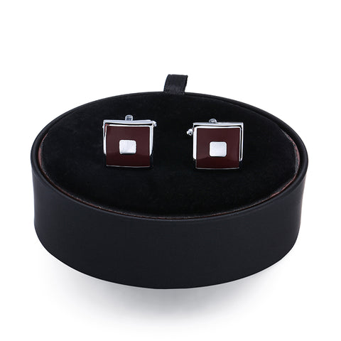 Brown Square Cufflinks- Box Set - Cufflink Store