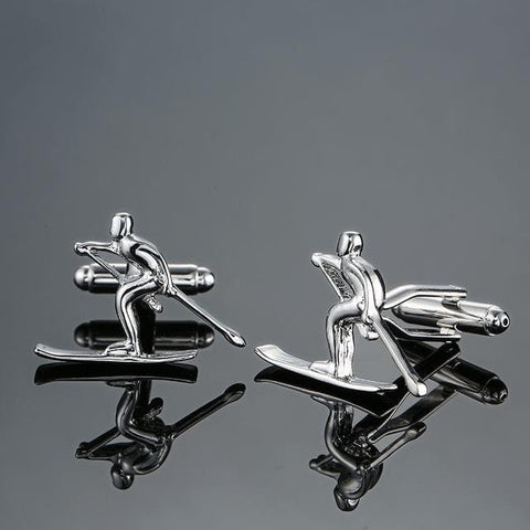 The Downhill Winner - Sport Cufflinks - Cufflink Store