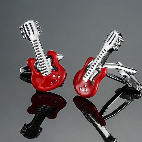 The Electric Guitar - Music Cufflinks - Cufflink Store