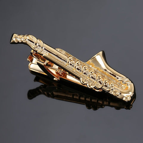 The Big Sax- Exotic Tie Clip - Cufflink Store