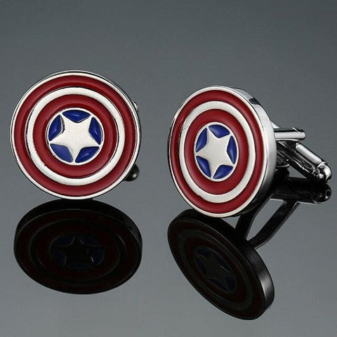 Captain America - Super Hero Cufflinks - Cufflink Store
