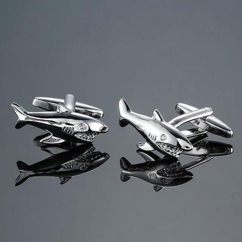 The Silver Sharks- Animal Design - Cufflink Store