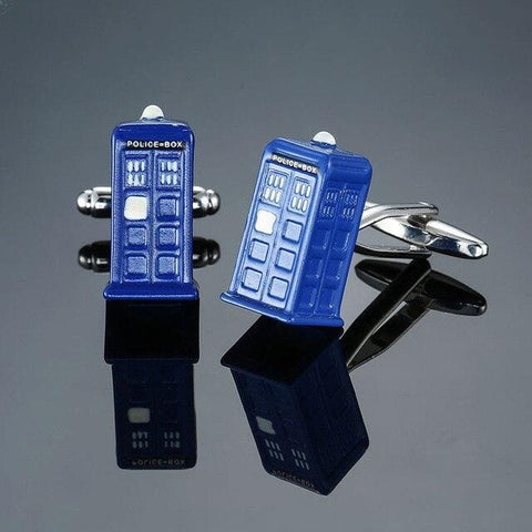 The Tardis- Exotic Cufflinks - Cufflink Store