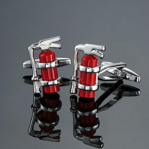 The Fire Extinguisher- Exotic Cufflinks - Cufflink Store