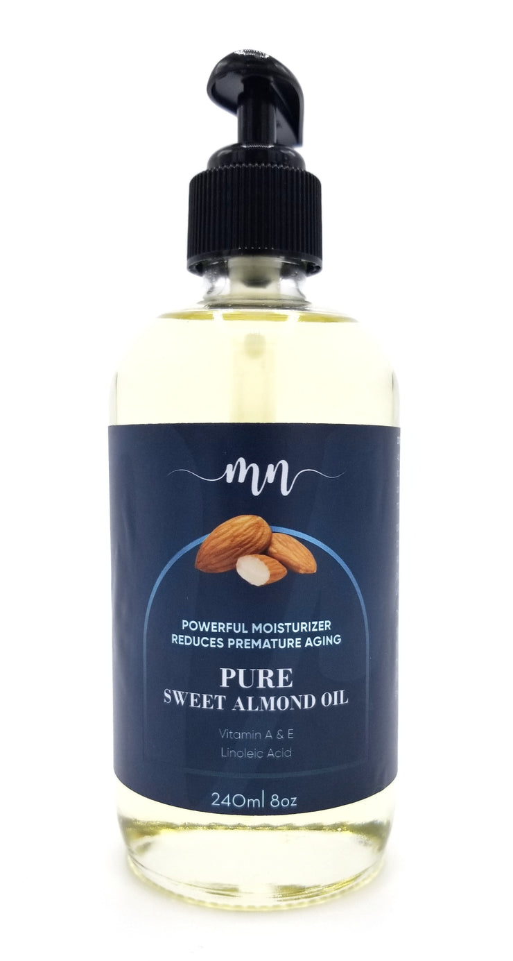 Pure Sweet Almond Oil - The Melanin Nurse