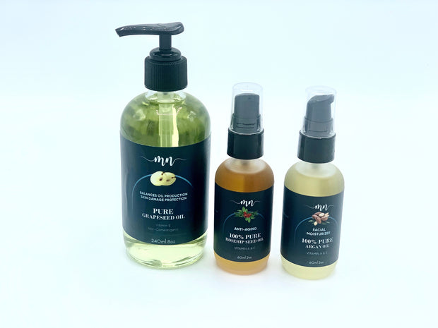 Grapeseed Oil / Argan Oil / Rosehip Seed Oil bundle