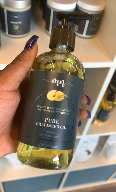 Pure Grapeseed Oil - The Melanin Nurse