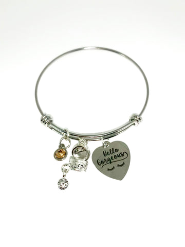 """Hello Gorgeous "" bangle"