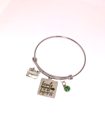 """Beauty is my Business "" bangle"